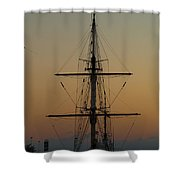 S S V  Corwith Cramer In Key West Shower Curtain