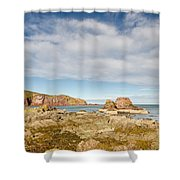 St Abbs Rocky Shoreline Shower Curtain