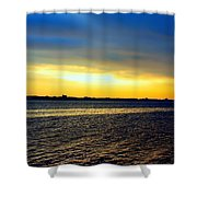 St Andrews Bay Sunset Shower Curtain