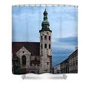 St. Andrew's Church In Krakow At Dusk Shower Curtain