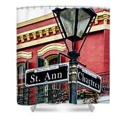 St. Ann And Chartres Nola  Shower Curtain