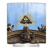 St Anne's Church In Budapest Architectural Details Shower Curtain