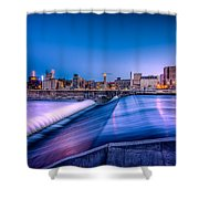 St. Anthony Falls In Minneapolis Shower Curtain