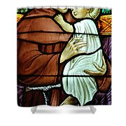 St Anthony In Stained Glass Shower Curtain