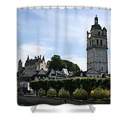 St. Antoine Tower And The Chateau De Loches Shower Curtain