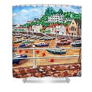 St Aubin's Harbour - Jersey Shower Curtain