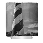 St Augustine Lighthouse Bw Shower Curtain