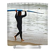 St Augustine Surfer Four Shower Curtain
