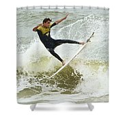 St Augustine Surfer Two Shower Curtain