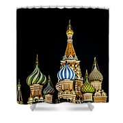 St. Basil's Cathedral At Night Shower Curtain