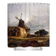 St Benets Abbey And Mill, Norfolk, 1833 Shower Curtain