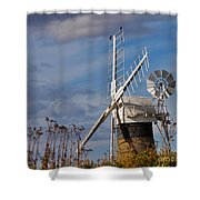 St Benets Drainage Mill Norfolk Shower Curtain