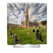 St Beuno Church Shower Curtain by Adrian Evans