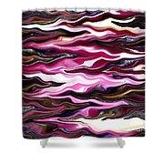 St Brigid Pink Waves Shower Curtain