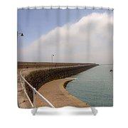 St Catherine's Breakwater - Jersey Shower Curtain by Joana Kruse