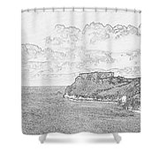 St Catherines Rock Tenby 2 Shower Curtain