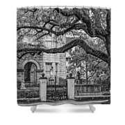 St. Charles Ave. Mansion 2 Bw Shower Curtain