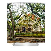 St. Charles Ave. Mansion Shower Curtain