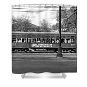 St. Charles Ave. Streetcar Monochrome Shower Curtain