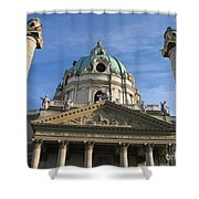 St Charles Church Vienna Austria Shower Curtain