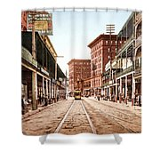 St Charles Street New Orleans 1900 Shower Curtain by Unknown