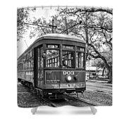 St. Charles Streetcar 2 Bw Shower Curtain