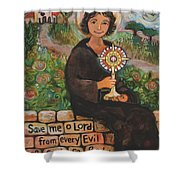 St. Clare Of Assisi Shower Curtain