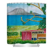 St. Eustatis From St. Kitts Shower Curtain