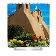 St Francis D'asis Mission Church. Taos New Mexico Shower Curtain