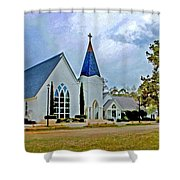 St. Francis Front Cropped 2 Shower Curtain