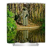 St. Francis In Nature Shower Curtain