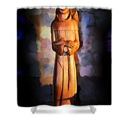 St. Francis Of Assisi By George Wood Shower Curtain