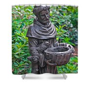 St Francis Of Assisi Garden Statute Shower Curtain