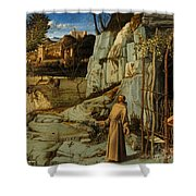 St Francis Of Assisi In The Desert Shower Curtain