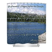 St Francis Prayer Before The Crucifix Shower Curtain
