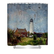 St. George Island Historic Lighthouse Shower Curtain