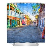 St George Street St Augustine Florida Painted Shower Curtain