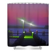 St. Georges Island Dock - Just Before Sunrise Shower Curtain