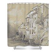 St Giulio Orta Shower Curtain by Edward Lear