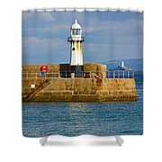 St Ives And Godrevy Lighthouses Cornwall Shower Curtain