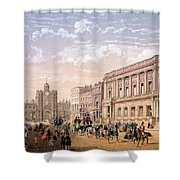 St James Palace And Conservative Club Shower Curtain