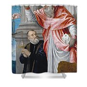 St. Jerome And A Donor Shower Curtain