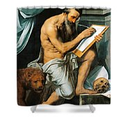St. Jerome Shower Curtain