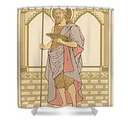 St John The Baptist Shower Curtain by English School