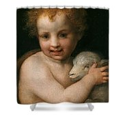 St. John The Baptist With The Lamb Shower Curtain