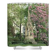 St. John The Divine Grounds Shower Curtain