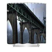 St Johns Bridge Oregon Shower Curtain