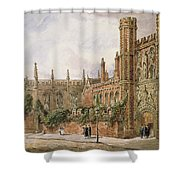 St. Johns College, Cambridge, 1843 Shower Curtain