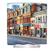 Yonge Street In Toronto Shower Curtain