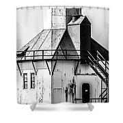St. Joseph Lighthouse Vertical Panorama Picture  Shower Curtain